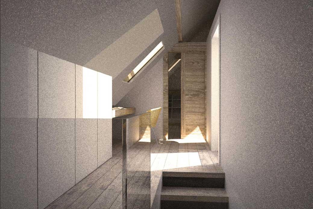 viktor burri architekten detail dachstockausbau in thun. Black Bedroom Furniture Sets. Home Design Ideas